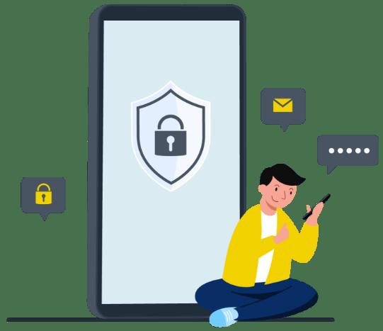 ilustração política de privacidade